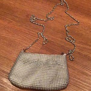 Handbags - Silver beaded purse